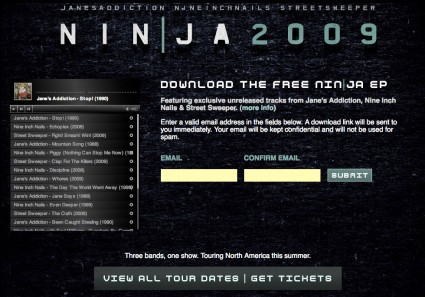 Free Mp3s on the NIN|JA site