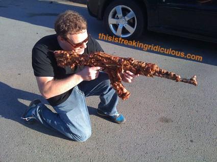 Bacon Gun in Action